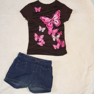 Little girls sz 6 jumping beans outfit